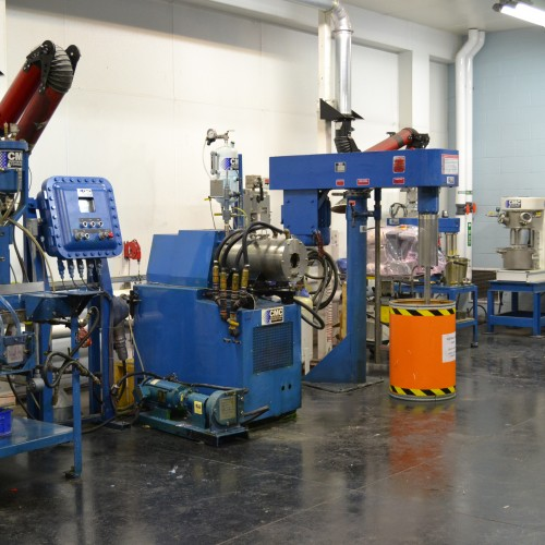 Particle size reduction and dispersion pilot lab at Custom Milling & Consulting, Inc.