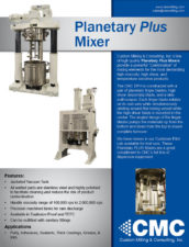 Industrial planetary mixer and ram press